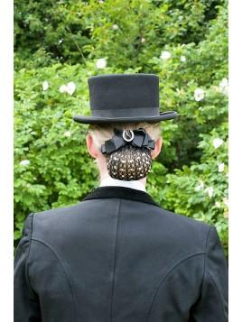 Redecilla  cabello con piedras y broche